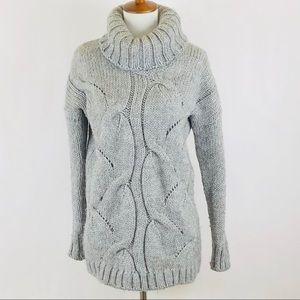 Anthro Elsamanda gray turtleneck sweater